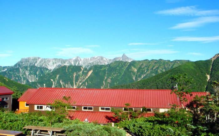常念岳の山小屋