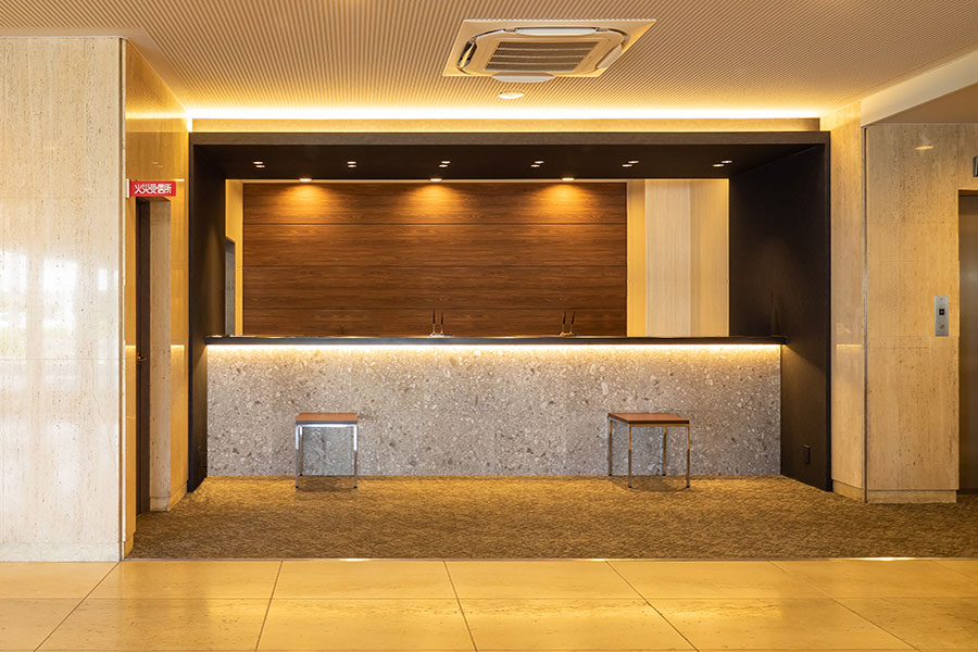 草津第一ホテル カウンター