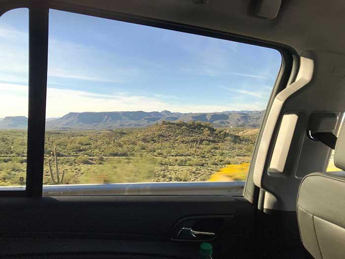 セドナ車窓